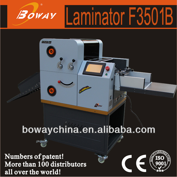 Boway F3501B 350mm coated film automatic Hot Roll Laminator