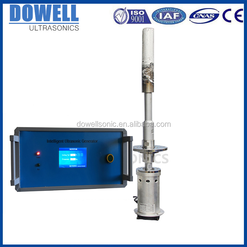 ultrasonic metal Crystallization Processor ultrasound treatment for alloy crystallization degassing