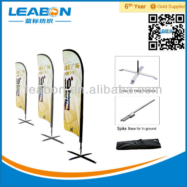 Outdoor Portable Advertising Free Standing Flag Pole