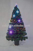 5ft snow artificial led fiber optic christmas tree plastic metal stand