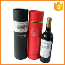 China supplier custom wine packing cylinder paper box for 700ml bottle