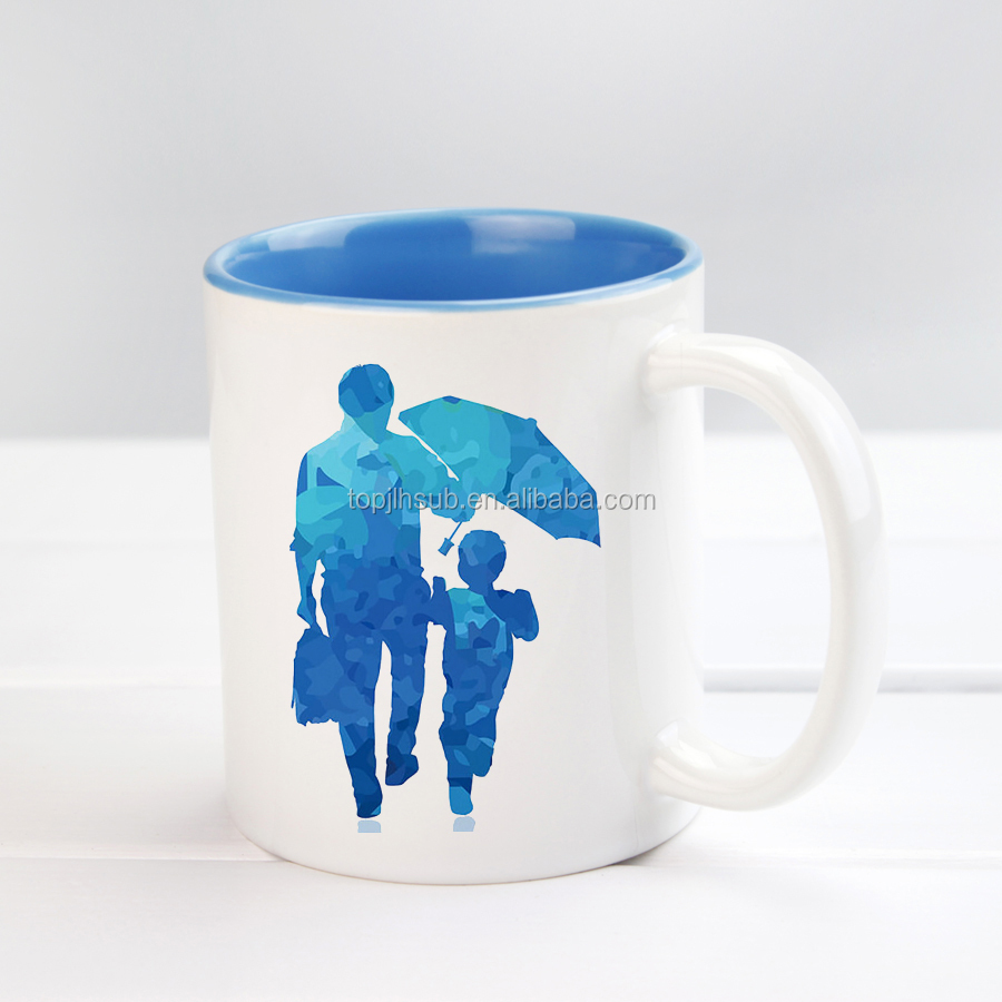 11OZ Sublimation Ceramic Cup Coated Inner Color Mug Wholesale