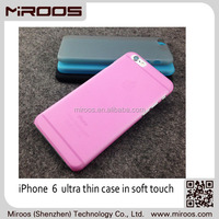 MIROOS hot sell eco friendly hard plastic rubberized color case for iphone 6