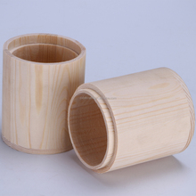 Wooden jar for tea leaves handmade box for bulk products tea container