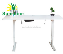 Manual and electric desk for office, automatic lifting metal ,office white desk