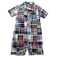 Romper checked stripe one piece jumpsuit fashion kids