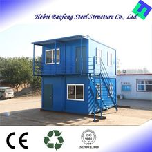 Newly Designed Solid mobile cabin ready made 20ft container house plan