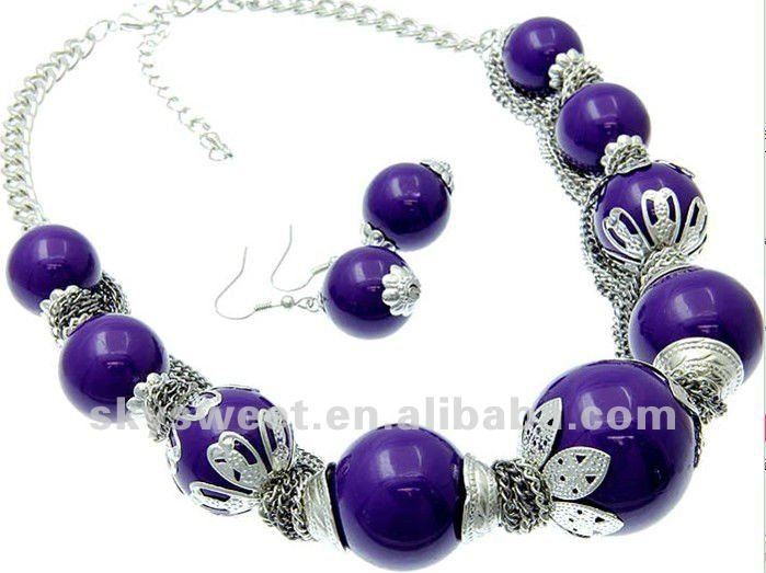 new china jewelry beading necklace set china(SWTZTN004-5