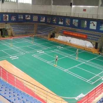 4.0 - 7.0 mm Professional Indoor Badminton Court Mat Special For The Game