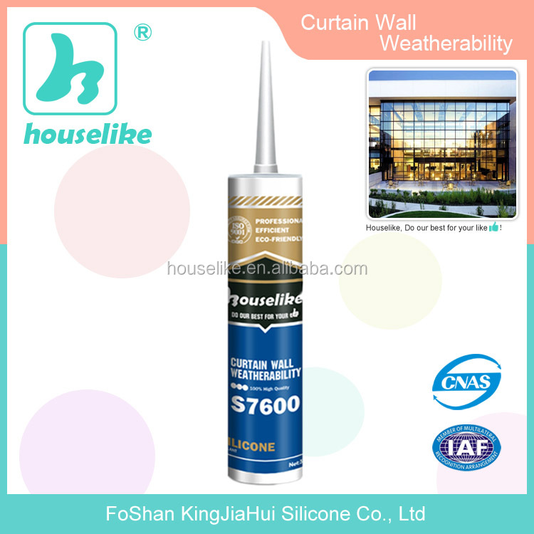Outdoor Glazing Neutral Weather-proof Silicone Sealant S7600