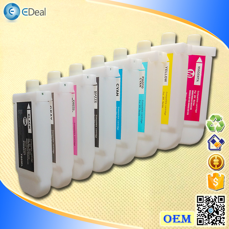 700ml 8 colors PFI-701 inkjet recycl printer ink cartridge for Canon IPF 8010S 9010S with chip