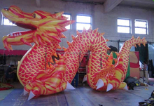 4m long giant chinese inflatable dragon for festival celebration