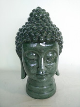 Religious craft resin buddha head figurine
