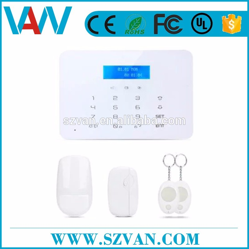 Latest 2 way audio gsm wireless digital security alarm system at low price