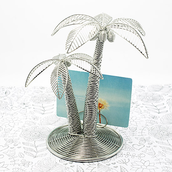 Handmade Stainless Coconut Tree Name Card Holder / Handmade metal craft