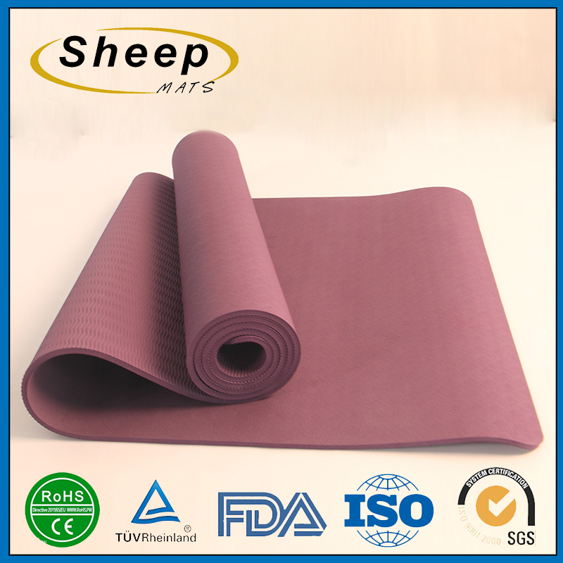 Customized design easy to clean mat wholesale portable pilates floor