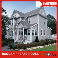 daquan prefabricated house,,light steel frame villa , log cabins prefab house