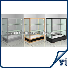 Titanium alloy tempered glass case display case