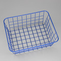 550-13B simplehouseware blue metal wire storage basket for laundry bathroom kitchen