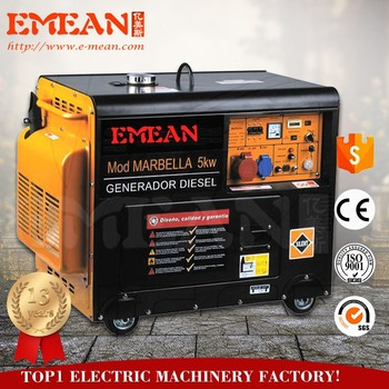 Portable small power silent type diesel generator for household