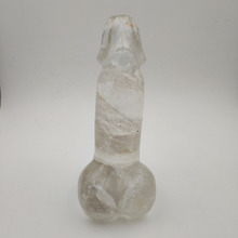 Natural Clear Quartz Penis Dildo Crystal Dildo Realistic Yoni Healing Massage Wand
