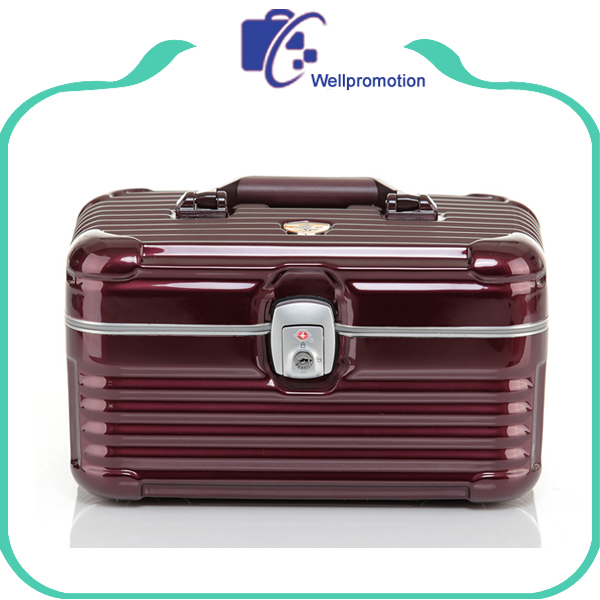 Trendy Girl Combination Lock ABS+PC Aluminum Cosmetic Case