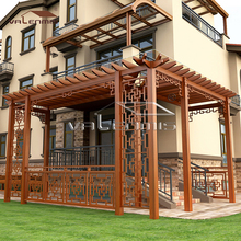 2017 Eco-friendly Wood Grain Aluminum Pergola Gazebo