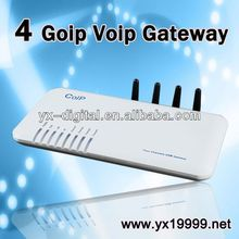 4 Port VoIP GSM Gateway GOIP voip mobile phone with dual sim