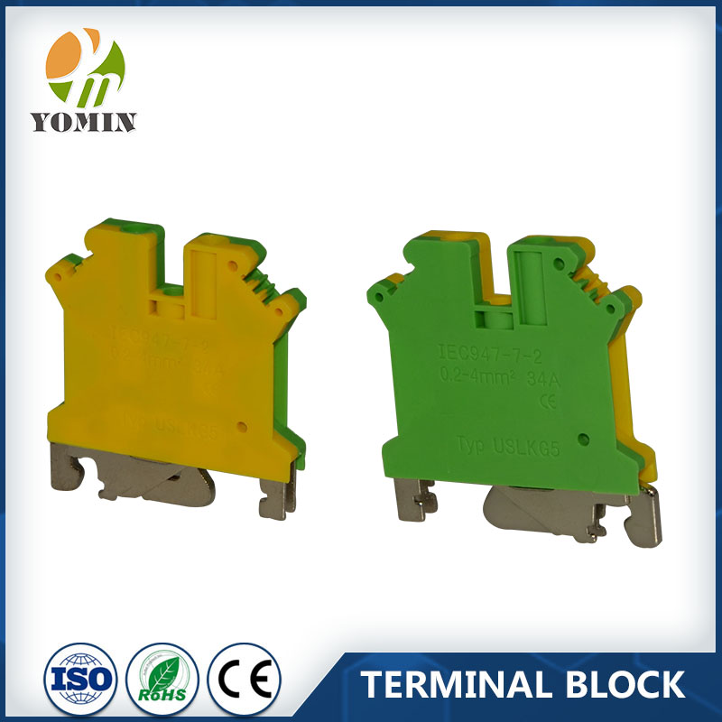 2016 NEW TYPE Cheaper Price Modle USLKG1.5N 1.5mm2 Tend Terminal Blocks Din Rail Mounting