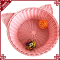 Manufacturer OEM design cat product plastic indoor cheap cat house durable cute rattan pet bed for small animal