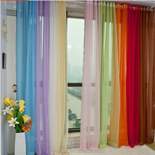 Polyester coloured voile curtains