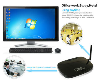 Cloud computing thin client FL300 dual core 1GHz built-in USB VGA HDMI MIC SPK