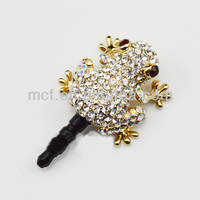 Funny decorated wholesale mobile earphone cell phone anti dust plug MCD-0074