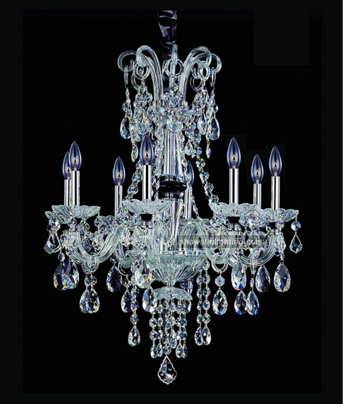 8 lights gallery lighting chandeliers with crystals