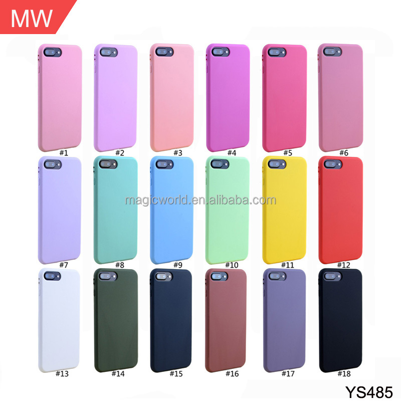 Mobile phone accessories, multicolor 1.5mm cheap silicon TPU case for iphone 7 8 plus