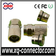 Good Quality Copper Double Shielding Circle Crimp F Male Connector For RG147 Cable