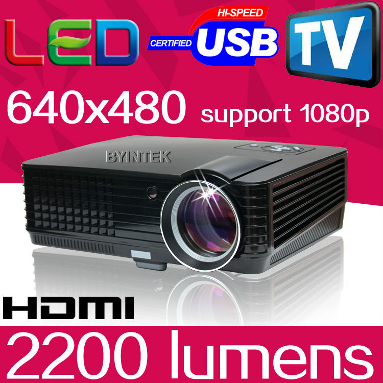 Home Cinema Video Digital LCD Portable Multimedia HDMI Mini 1080P TV USB 3D HD LED Projector 2
