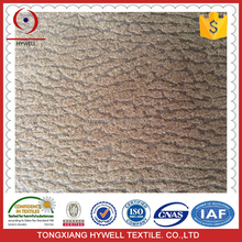 High frequency and low cost Faux suede fabric ,bronzing suede for sofa cover
