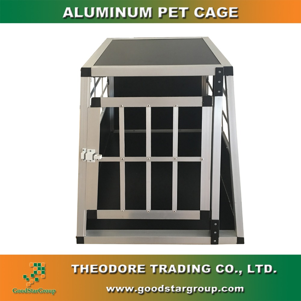 Aluminum Dog Pet Cage Transport Crate Car Travel Carrier Box 54 x 69 x 50 cm
