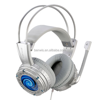 BENWIS H200 Wired Shock Gaming Headphone LED Flashing USB Overhead Stereo Headset with Microphone