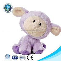 2015 China factory custom cute sheep plush toy fashion cheap purple soft stuffed plush sheep