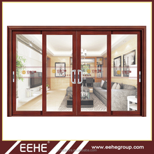 Craft glass aluminium sliding wardrobe doors/sliding doors with aluminum frame