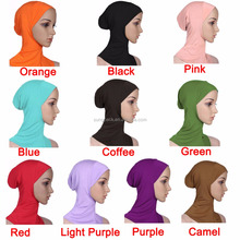 20 Differ Colors Hijab Caps Muslim Islamic Arabic Jersey Hijab Scarf Wholesale Fashion Women Inner Hijab Underscarf