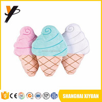 Stuffed kids small cheap custom logo promotion toys plush ice cream