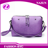 Wholesale Simple Fashion Mini Cheap PU leather Messenger Bag with Long straps for Woman