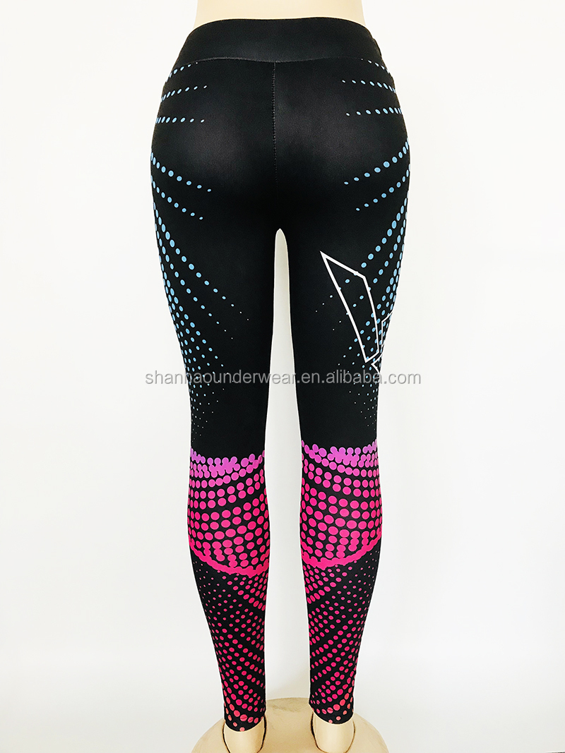 New style printed tight sports wear training jogging gym capris tummy control yoga leggings
