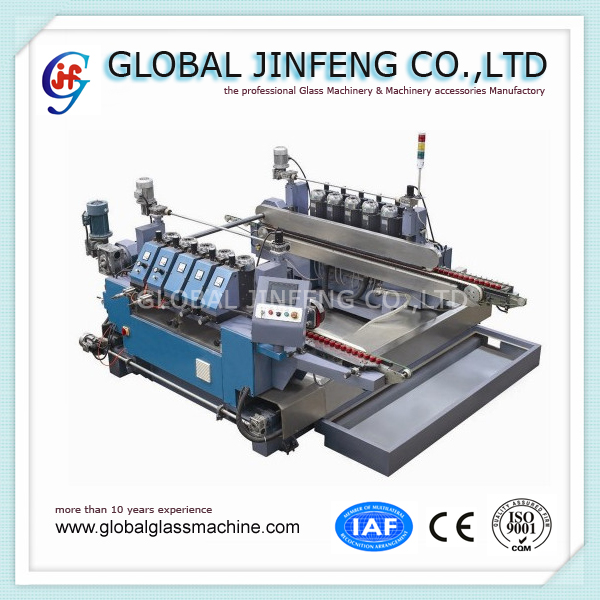 JFDR-10 Automatic Sheet Glass making machinery Double Round Edging and Polishing Machine with CE