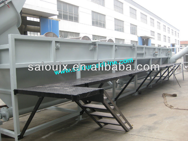 plastic waste film floating washer machine/PE/PP film woven bags floating washer/hot washer recycling line
