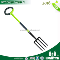 4-Tine Forged Heavy-Pattern Spading Fork with fiberglass handle