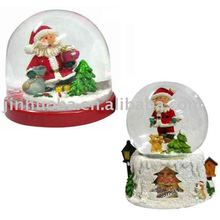 resin christmas santa snow ball